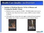 health care quality an overview