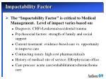 impactability factor