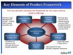 key elements of product framework