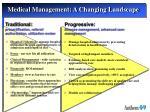 medical management a changing landscape