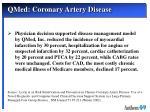 qmed coronary artery disease