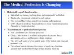the medical profession is changing