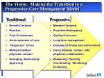 the vision making the transition to a progressive care management model