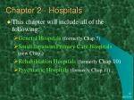 chapter 2 hospitals