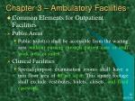 chapter 3 ambulatory facilities1