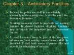 chapter 3 ambulatory facilities31