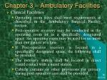 chapter 3 ambulatory facilities37