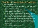 chapter 3 ambulatory facilities38