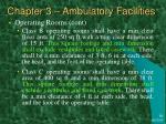 chapter 3 ambulatory facilities8