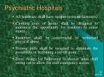 psychiatric hospitals1