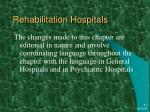 rehabilitation hospitals