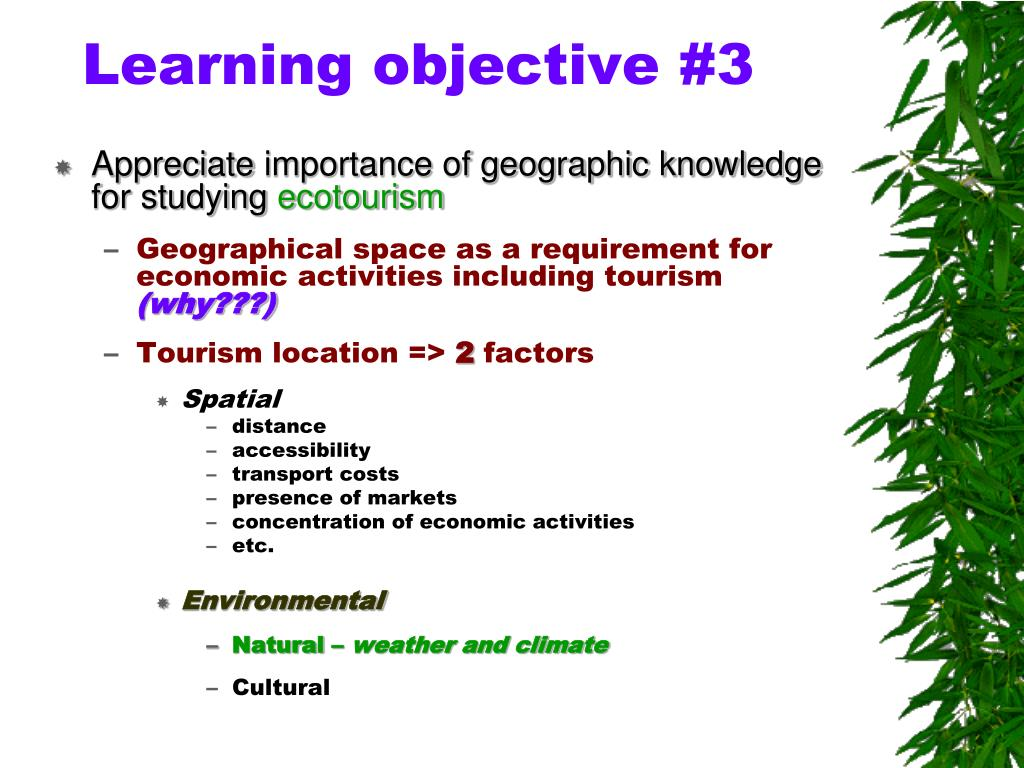 Learning objective #