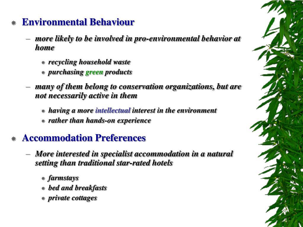 Environmental Behaviour