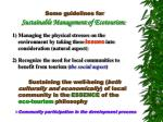 some g uidelines for sustainable management of ecotourism