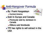 anti hangover formula1