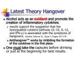 latest theory hangover