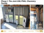 phase i the joint anl fnal chemistry facility