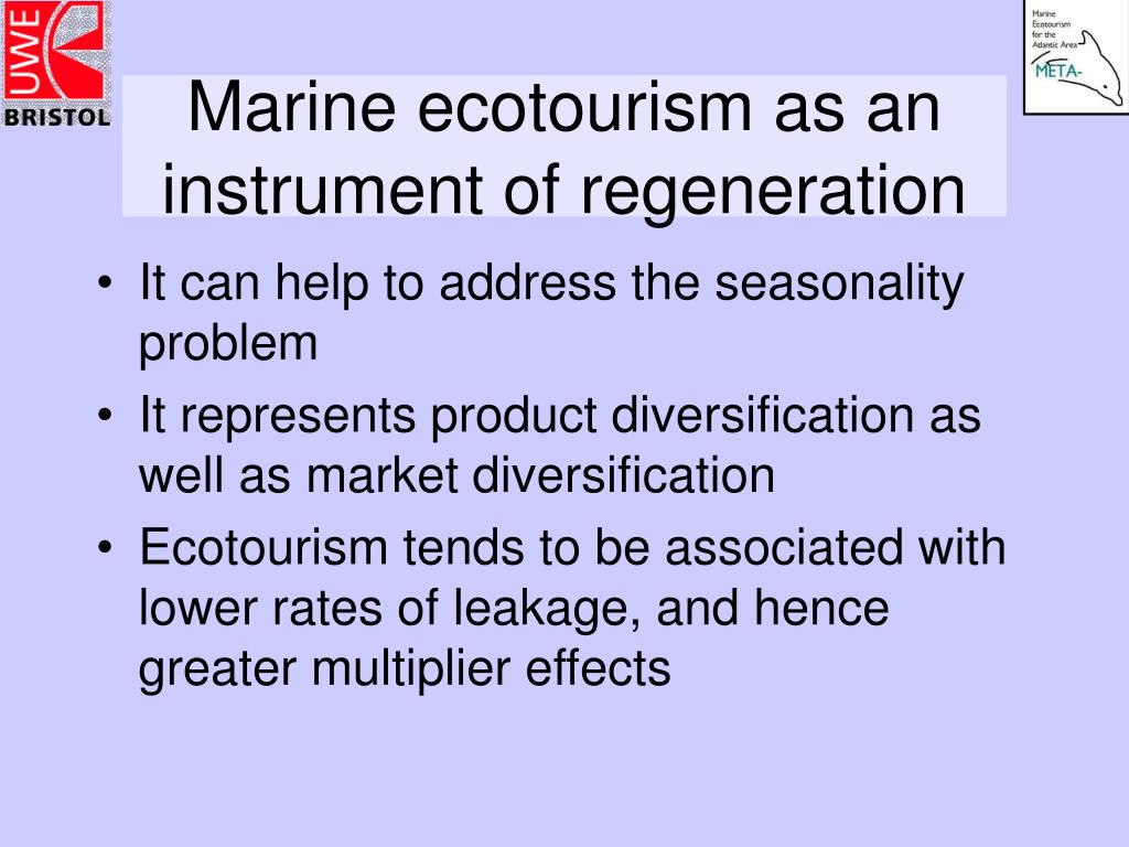 Marine ecotourism as an instrument of regeneration