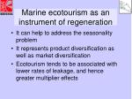 marine ecotourism as an instrument of regeneration11