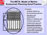 the meta model of marine ecotourism planning good practice
