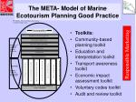 the meta model of marine ecotourism planning good practice19