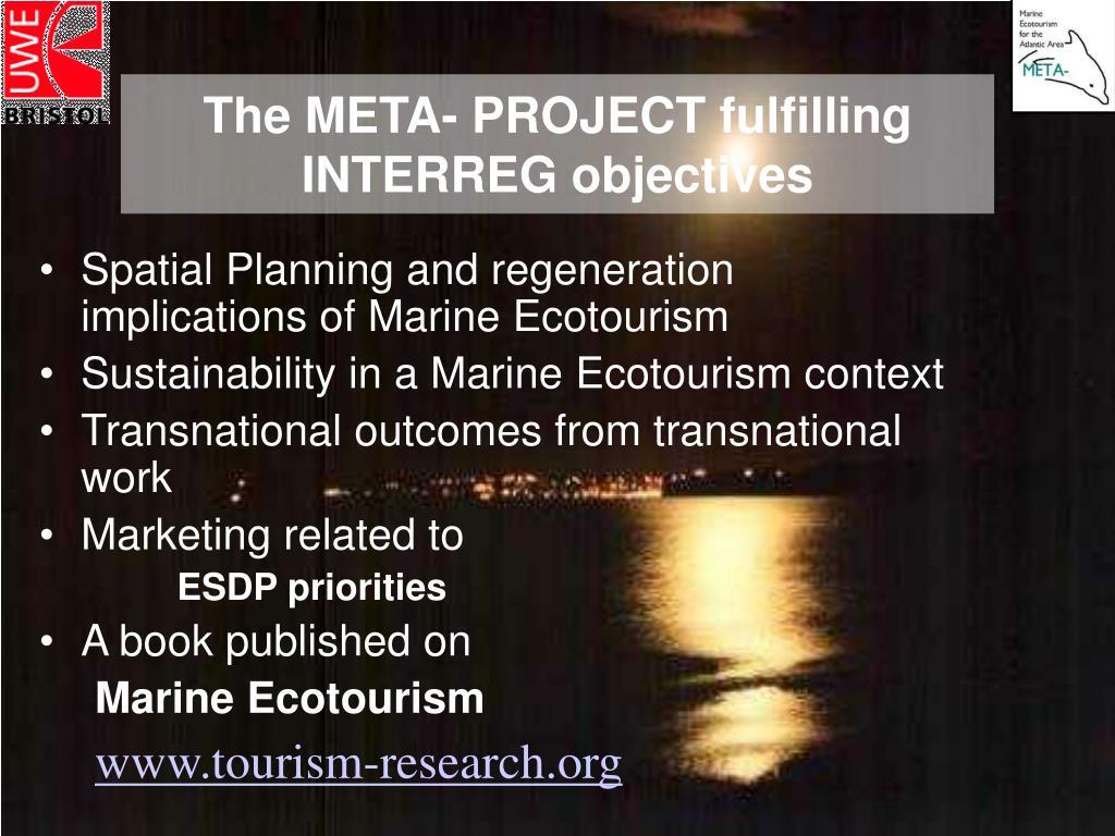 The META- PROJECT fulfilling INTERREG objectives
