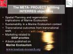 the meta project fulfilling interreg objectives