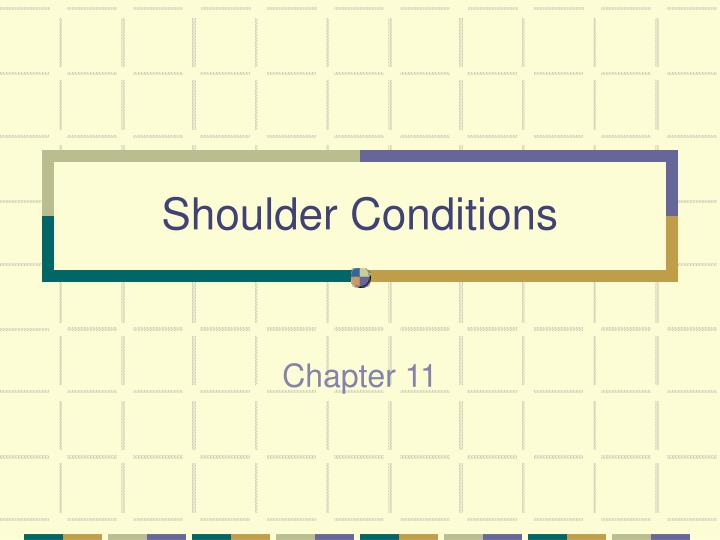 shoulder conditions n.