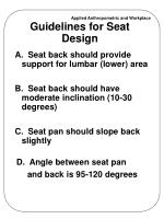 guidelines for seat design
