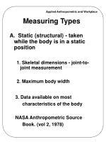 measuring types