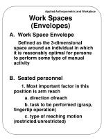 work spaces envelopes
