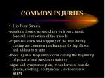 common injuries7