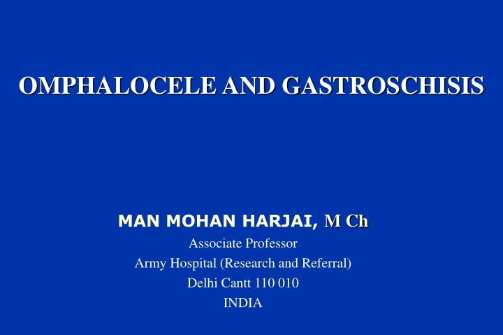 omphalocele and gastroschisis n.
