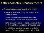 anthropometric measurements5