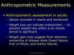 anthropometric measurements7