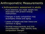 anthropometric measurements8