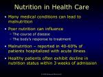 nutrition in health care