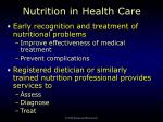 nutrition in health care1