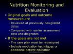 nutrition monitoring and evaluation