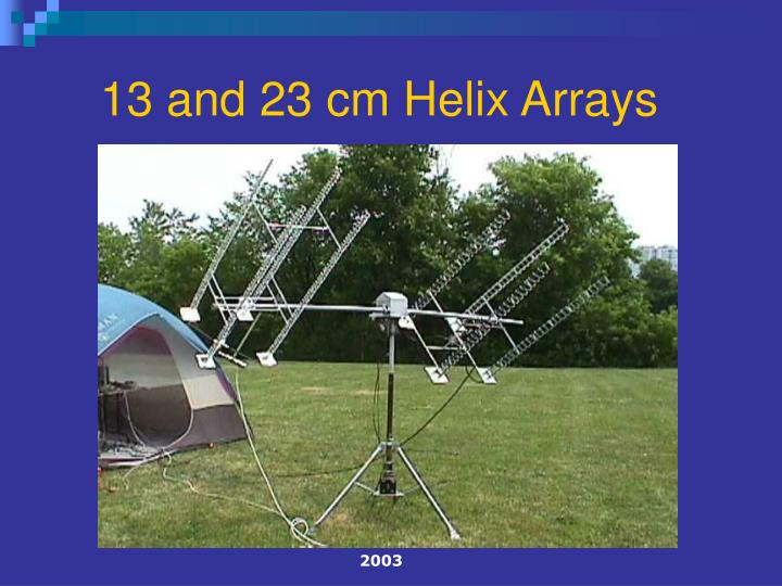 13 and 23 cm Helix Arrays