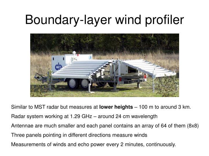 Boundary-layer wind profiler