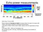 echo power measurements