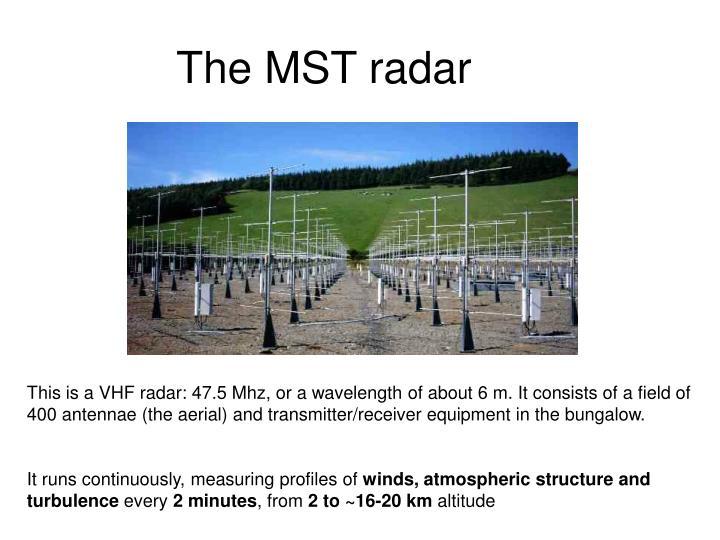 The MST radar