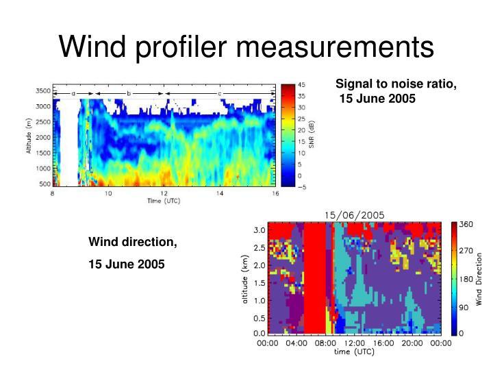 Wind profiler measurements