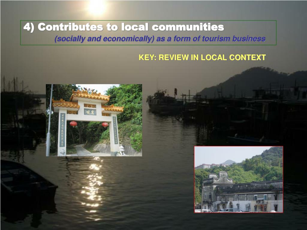 4) Contributes to local communities