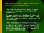 how successful are sustainable development projects at conserving biodiversity