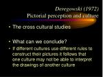 deregowski 1972 pictorial perception and culture19