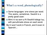 what s a word phonologically
