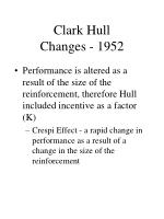 clark hull changes 1952