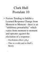 clark hull postulate 10
